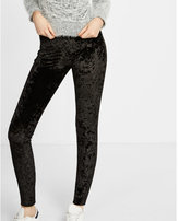 Express black velvet legging