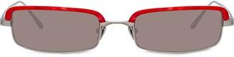 Linda Farrow Leona rectangular frame sunglasses