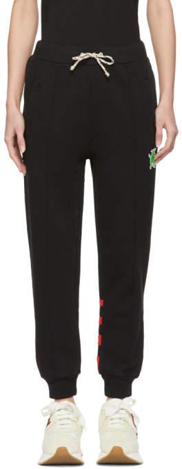 Marni Dance Bunny Black Striped Bunny Lounge Pants