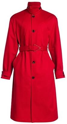 Bottega Veneta Heavy Cotton Twill Belted Trench Coat