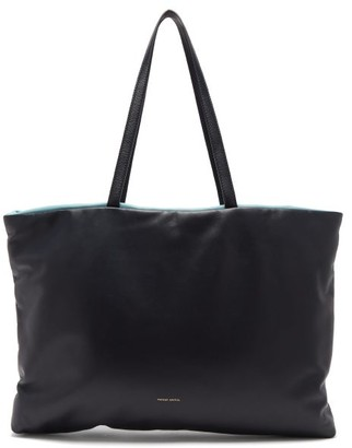 Mansur Gavriel Pillow Reversible Padded Leather Tote Bag - Navy Multi
