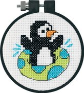 "Dimensions Playful Penguin"" Learn-a-Craft Counted X Stitch, Multi-Colour"