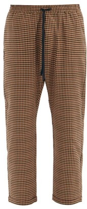 Barena Bativoga Checked Wool-blend Trousers - Brown Multi