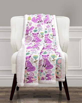 Triangle Home Fashion Fashions Pixie Fox Sherpa Throw Blanket