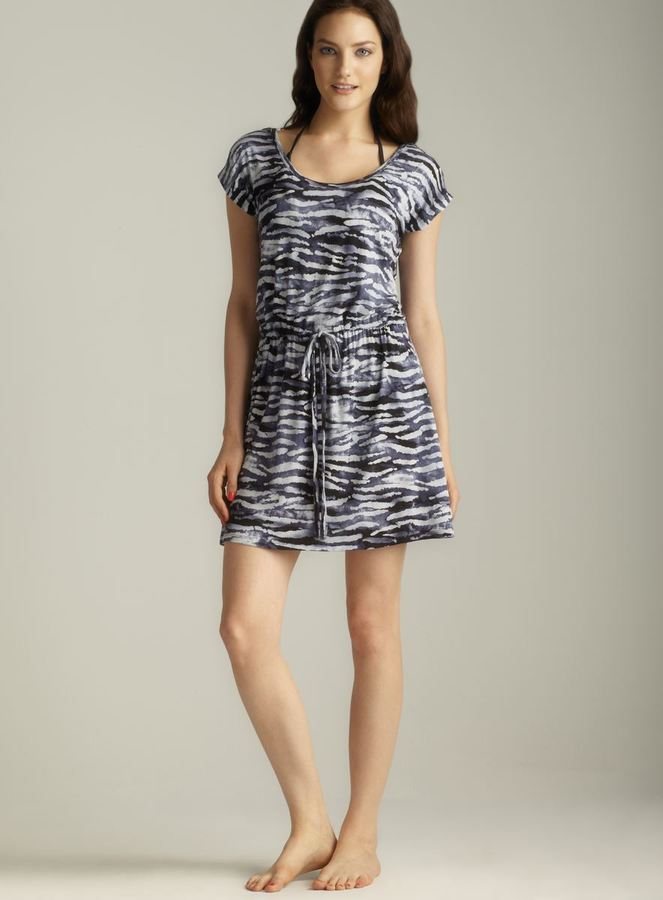 Club Z Drawstring Scoop Neck Cover-Up