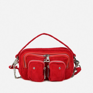 Nunoo Women's Helena Corduroy Cross Body Bag - Red