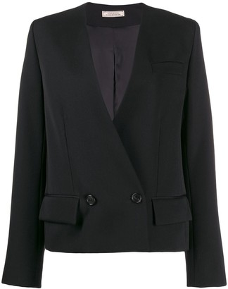 Nina Ricci Double Breasted Velvet Blazer
