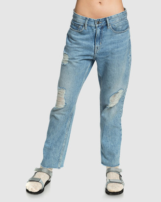 Quiksilver Womens Up Size Baggy Fit Denim Jean