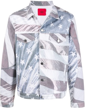 424 American flag denim jacket