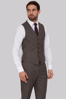 Savoy Taylors Guild Regular Fit Neutral Sharskin Waistcoat