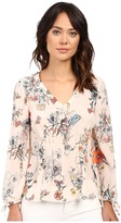 Rebecca Taylor Meadow Floral Print Long Sleeve Blouse