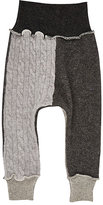 Agua Fine-Gauge & Cable-Knit Cashmere Skinny Pants-GREY