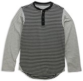 Sovereign Code Boys' Color-Block Striped Henley Tee - Big Kid