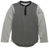 Sovereign Code Boys' Color-Block Striped Henley Tee - Sizes S-XL