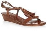 Bernardo Court Tassel Demi Wedge Sandals