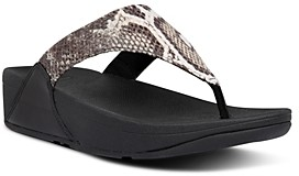 FitFlop Women's Lulu Snake Look Thong Sandals