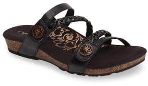 Aetrex Janey Braided Slide Sandal