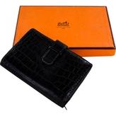 Hermes Black Exotic leathers Wallet