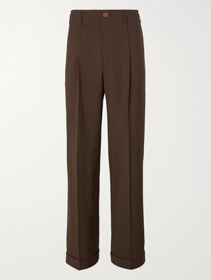 Gucci Wide-Leg Grain De Poudre Wool Trousers