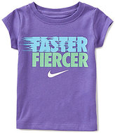 Nike Little Girls 2T-6X Short-Sleeve Faster Fiercer Graphic Tee
