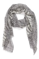 MICHAEL Michael Kors 'Spined Croc' Wool & Silk Scarf