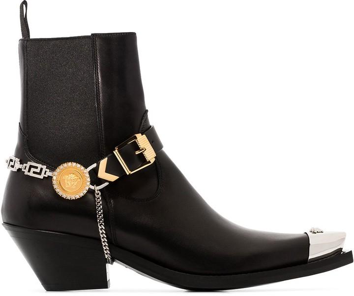Versace Medusa steel-toe ankle boots