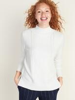 Old Navy Mock-Neck Pointelle Sweater for Women