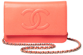 Chanel Vintage Pink Caviar CC Timeless Wallet on a Chain (WOC)