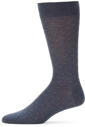 Marcoliani Milano Pin-Dot Pima Cotton Socks