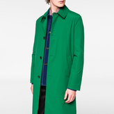 Paul Smith Men's Green Loro Piana Storm System® Wool-Blend Mac