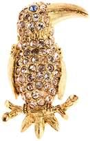 Oscar de la Renta Swarovski Crystal Embellished Parrot Brooch