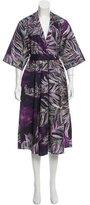 Tome Abstract Print Midi Dress