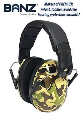 Banz Kids Hearing Protection Earmuffs Camo Green