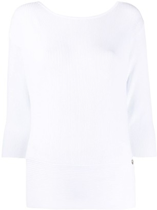 Twin-Set Ribbed Fitted Top