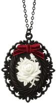 Poporcelain Dark Romance Porcelain Rose Cameo Necklace