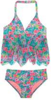 Hula Star 'Rose Tango' Two-Piece Tankini Swimsuit (Toddler Girls & Little Girls)