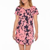 Liz Claiborne Jersey Short Sleeve Round Neck Floral Nightshirt
