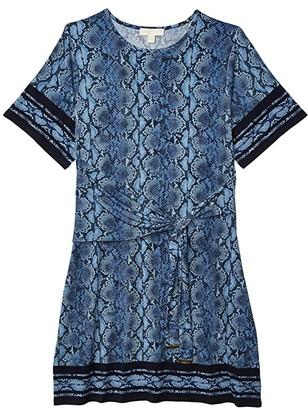 MICHAEL Michael Kors Size Snake Border Tie Dress (Chambray) Women's Dress