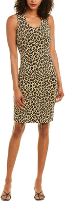 Theory Leopard Sheath Dress