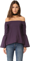 525 America Off Shoulder Bell Sleeve Top