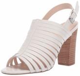 Tahari Womens Marlanna Block Heel Sandal Cream Leather 9.5 M