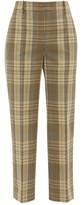 Joseph Straight-leg Checked-madras Trousers - Womens - Beige Multi