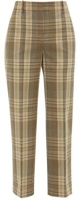Joseph Straight-leg Checked-madras Trousers - Beige Multi