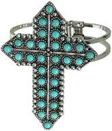 Show Me Country Western Turquoise Cross Cuff Bangle Bracelet
