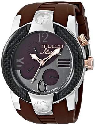 Mulco Unisex MW5-1877-113 ILUSION Crescent Analog Display Swiss Quartz Multifunctional Watch ()