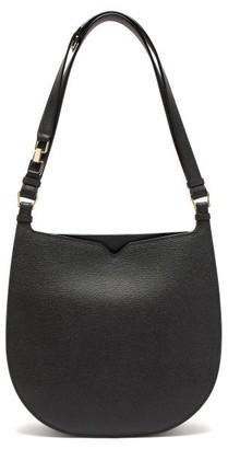 Valextra Hobo Weekend Medium Leather Bag - Womens - Black