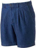 Croft & Barrow Men's Classic-Fit Denim Flex-Waist Pleated Shorts