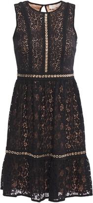 MICHAEL Michael Kors Eyelet-embellished Cotton-blend Lace Mini Dress