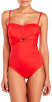 Gottex Crystal Clear Bandeau One-Piece Swimsuit