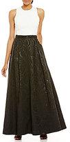 Calvin Klein Ivory Top Jacquard Skirt Ballgown
